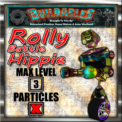 Display crate Rolly Battle Hippie