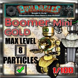 Display crate Boomer Mini Gold