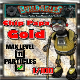 Display crate Chip Papa Gold