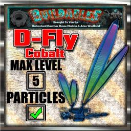 Display crate D Fly Cobalt