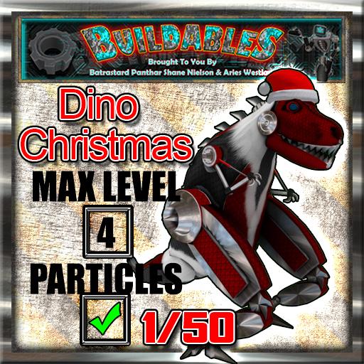 Display crate Dino Christmas