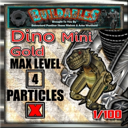 Display crate Dino Mini Gold 1of100