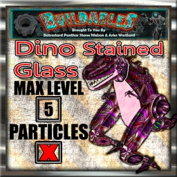 Display crate Dino Stained Glass