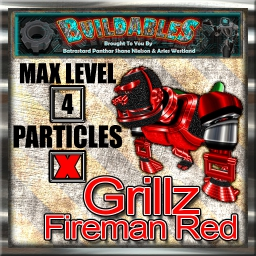 Display crate Grillz Fireman Red