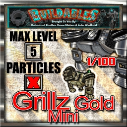 Display crate Grillz Gold mini 1of100