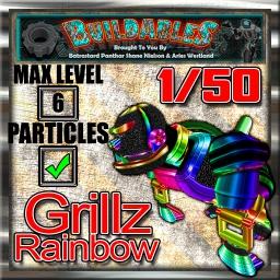 Display crate Grillz Rainbow