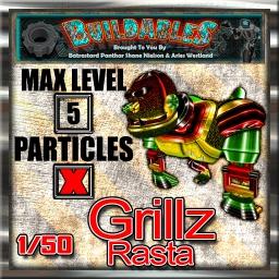 Display crate Grillz Rasta 1of50