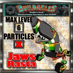 Display crate Jaws Rasta