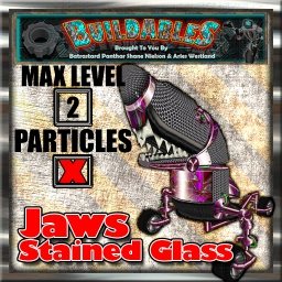 Display crate Jaws Stained Glass
