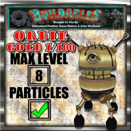 Display crate Orbie gold