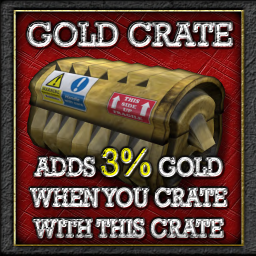 Buildables Recycler Crate 3% gold