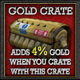 Buildables Recycler Crate 4% gold