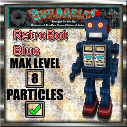 Display crate RetroBot Blue