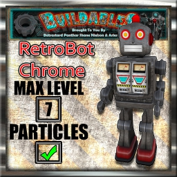 Display crate RetroBot Chrome