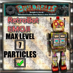 Display crate RetroBot Emoji