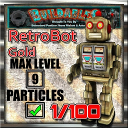 Display crate RetroBot Gold