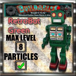 Display crate RetroBot Green