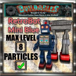 Display crate RetroBot Mini Blue