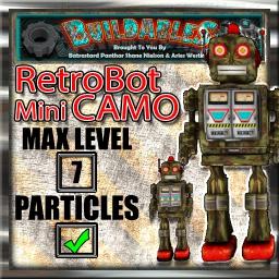 Display crate RetroBot Mini Camo