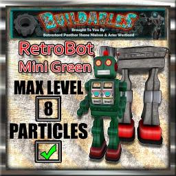 Display crate RetroBot Mini Green
