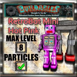 Display crate RetroBot  Mini Hot Pink