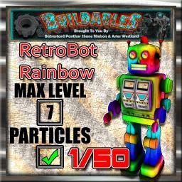Display crate RetroBot Rainbow