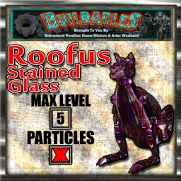 Display crate Roofus Stained Glass