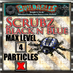 Display crate Scrubz Black n Blue