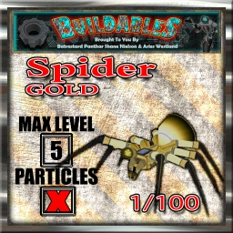 Display crate Spider Gold 1of100