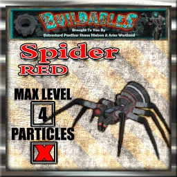 Display crate Spider Red
