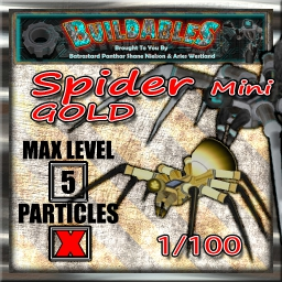 Display crate Spider mini gold 1of100