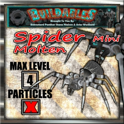 Display crate Spider mini molten