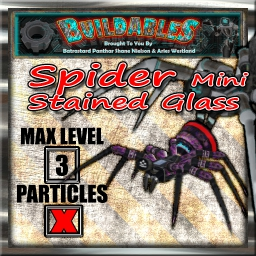 Display crate Spider mini stained Glass
