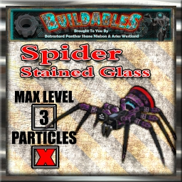 Display crate Spider stained Glas