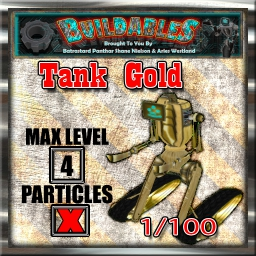 Display crate Tank Gold 1of100
