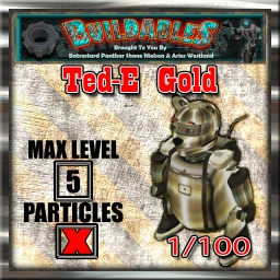 Display crate Ted-E Gold 1of100