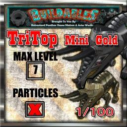 Display crate TriTop mini Gold 1of100
