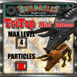 Display crate TriTop mini Inferno