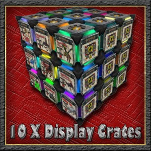 10 display crates recycler