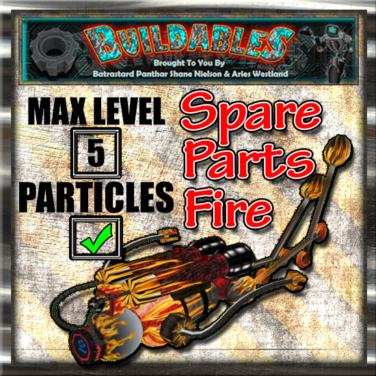 Display crate Spare Parts Fire